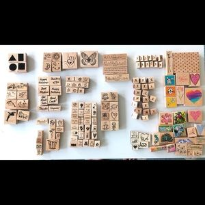 125+ Lot Rubber Stamp Stampin Up & Other Brands